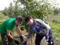 Профсоюзные лидеры помогают «Востоку» в уборке яблок